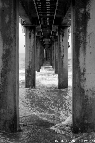 Jetty fine art black and white photography architechture