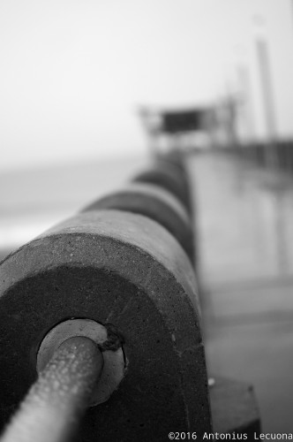 Concrete pier fine art black and white photography