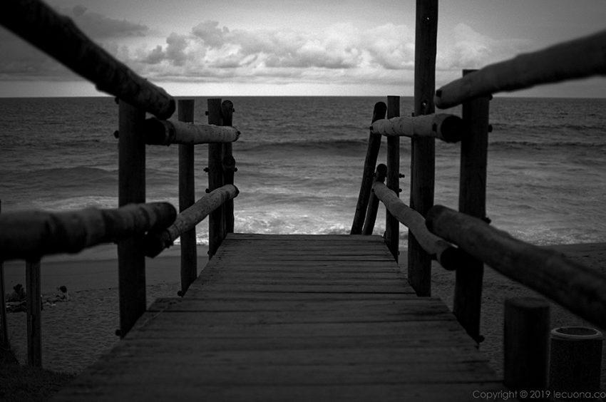 black and white fine art beach scene the way lecuona